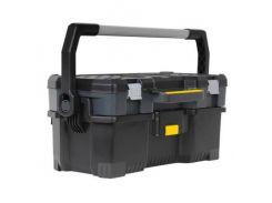 """Ящик 24"""", 670x323x283 мм, профессиональный, пластмассовый, открытый со съемным кейсом Stanley 1-97-506"""