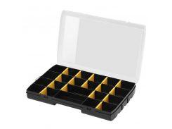 Органайзер пластмассовый, 357 × 229 × 48 мм, с 22-мя отсеками и переставными перегородками Stanley STST81681-1