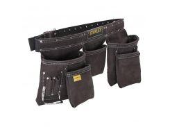 Пояс двойной для ношения инструментов, кожаный ремень с охватом талии от 84 до 133 см. Stanley STST1-80113