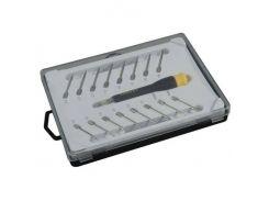 Набор отверток прецизионных, для точной механики, с цанговым держателем, 16 шт. Stanley STHT0-62633