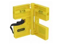 """Уровень """"POST LEVEL"""", для установки стоек, магнитный, пластиковый, 3 капсулы. Stanley 0-47-720"""