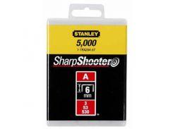 """скобы тип """"а"""", 6мм, для степлера ручного """"light duty"""", 1000шт. stanley 1-tra204t"""