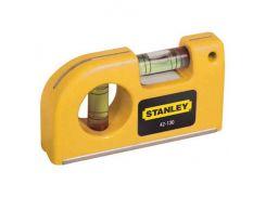 """Уровень """"Pocket Level"""" карманный, 2 капсули, L=87 мм, Stanley 0-42-130"""