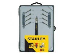 Набор отверток прецизионных, для точной механики, с цанговым держателем, 8 шт. Stanley STHT0-62629