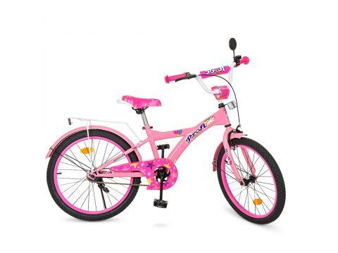 Велосипед детский PROF1 20д. T2061 розовый Сумы