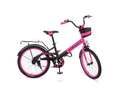 Детский велосипед PROF1 20д. W20115-7 розово-черный Сумы