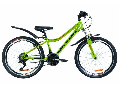 "Велосипед 24"" Formula FOREST AM 14G Vbr рама-12,5"" St зеленый с оранжевым (м) с крылом Pl 2019 (OPS-FR-24-148) Сумы"