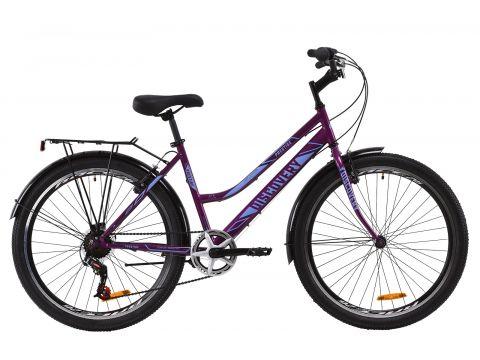 "Велосипед ST 26"" Discovery PRESTIGE WOMAN Vbr рама-17"" бело-голубой с багажником зад St, с крылом St 2020 (OPS-DIS-26-244) Сумы"
