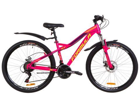 """Велосипед 26"""" Formula ELECTRA AM 14G DD рама-15,5"""" St малиновый с салатным с крылом Pl 2019 (OPS-FR-26-287) Сумы"""