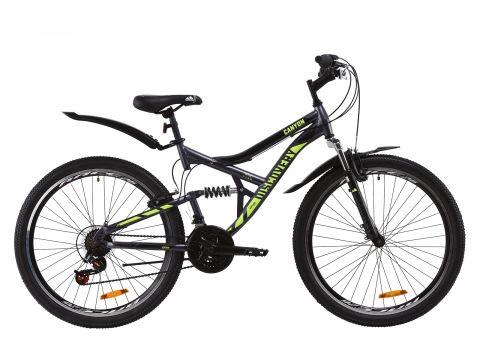 "Велосипед ST 26"" Discovery CANYON AM2 Vbr рама-17,5"" черно-красный с серым с крылом Pl 2020 (OPS-DIS-26-231) Сумы"
