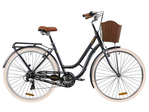 """Велосипед AL 28"""" Dorozhnik CORAL рама-19"""" серый с багажником зад St, с крылом St, с корзиной Pl 2020 (OPS-D-28-181) Сумы"""