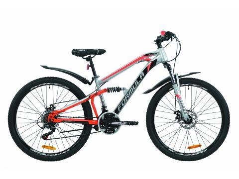 """Велосипед ST 26"""" Formula BLAZE AM2 DD рама-15"""" серо-красный с черным с крылом Pl 2020 (OPS-FR-26-379) Сумы"""