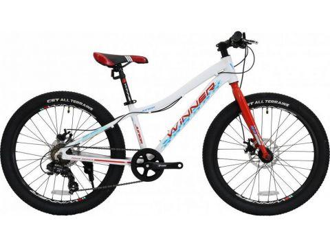 """Велосипед WINNER 24"""" JUNIOR+ 12,5"""" бело-красный (19-145) 2019"""