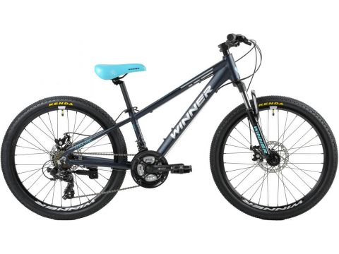 "Велосипед WINNER 24"" BULLET 12,5"" (син-мат) (20-131)"