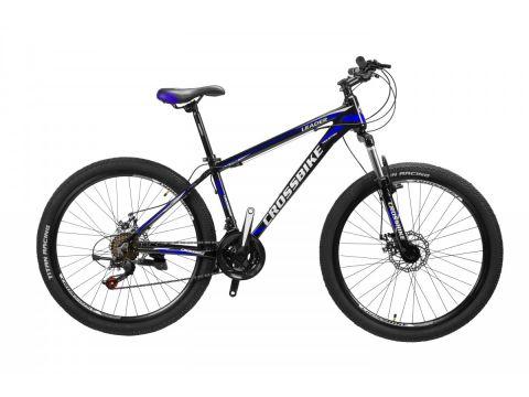 """Велосипед Cross Leader 26""""15"""" Чёрный-Голубой-Белый (26CJPr19-46)"""