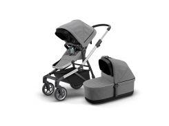 Детская коляска с люлькой Thule Sleek (Grey Melange) (TH 11000006)