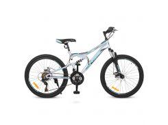 "Велосипед Profi 24"" G24DAMPER S24.5 Blue (G24DAMPER S24.5)"