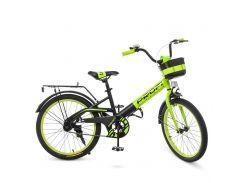 "Велосипед Profi Original 20"" W20115-6 Green / Black mat (W20115-6)"