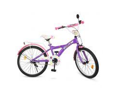 Велосипед детский PROF1 20д. T2063 фиолетово-розовый