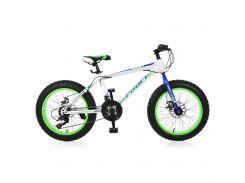 "Велосипед Profi 20"" EB20POWER 1.0 S20.3 White-Blue-Lime Green (EB20POWER 1.0 S20.3)"