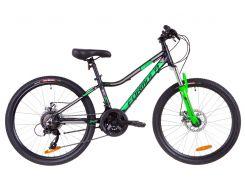 """Велосипед 24"""" Formula ACID 2.0 AM 14G DD Al 2019 (черно-зеленый (м))"""