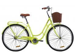 """Велосипед ST 28"""" Dorozhnik RETRO с багажником зад St, с крылом St, с корзиной Pl 2020 (белый)"""
