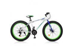 "Велосипед Profi 26"" EB26POWER 1.0 S26.3 White-Blue-Lime Green (EB26POWER 1.0 S26.3)"