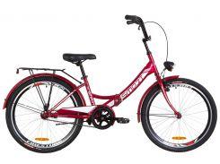 """Велосипед 24"""" Formula SMART 14G тормозная рама-15"""" St красный с багажником зад St, с крылом St, с фонарём 2019 (OPS-FR-24-144)"""