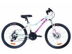 """Велосипед 24"""" Formula ACID 1.0 AM 14G DD рама-12,5"""" Al бело-малиновый с голубым 2019 (OPS-FR-24-166)"""