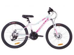 """Велосипед 24"""" Formula ACID 2.0 AM 14G DD рама-12,5"""" Al бело-малиновый с голубым (м) 2019 (OPS-FR-24-136)"""