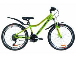 "Велосипед 24"" Formula FOREST AM 14G Vbr рама-12,5"" St зеленый с оранжевым (м) с крылом Pl 2019 (OPS-FR-24-148)"