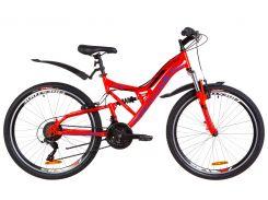 """Велосипед 24"""" Formula ATLAS AM2 14G Vbr рама-14"""" St красно-синий с крылом Pl 2019 (OPS-FR-24-137)"""