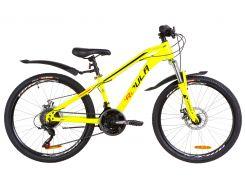"Велосипед 24"" Formula DAKAR AM 14G DD рама-13"" St желтый с крылом Pl 2019 (OPS-FR-24-153)"