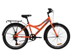 """Велосипед ST 24"""" Discovery FLINT Vbr рама-14"""" оранжево-бирюзовый с серым с багажником зад St, с крылом St 2020 (OPS-DIS-24-173)"""