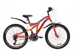 """Велосипед ST 24"""" Discovery ROCKET AM2 Vbr рама-15"""" красно-черный с синим с крылом Pl 2020 (OPS-DIS-24-188)"""