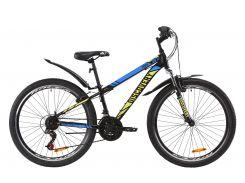 """Велосипед ST 26"""" Discovery TREK AM Vbr рама-13"""" черно-зеленый с синим (м) с крылом Pl 2020 (OPS-DIS-26-264)"""
