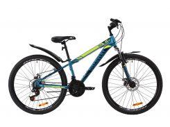 "Велосипед ST 26"" Discovery TREK AM DD рама-15"" малахитовый с желтым (м) с крылом Pl 2020 (OPS-DIS-26-280)"