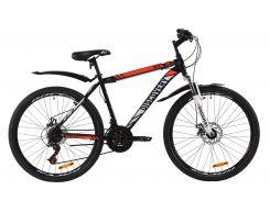"""Велосипед ST 26"""" Discovery TREK AM DD рама-18"""" сине-оранжевый с крылом Pl 2020 (OPS-DIS-26-291)"""