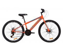 "Велосипед ST 26"" Discovery ATTACK DD рама-13"" бело-черный с синим 2020 (OPS-DIS-26-297)"