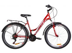 "Велосипед 26"" Formula OMEGA AM 14G Vbr рама-18"" St красный с багажником зад St, с крылом St 2019 (OPS-FR-26-306)"