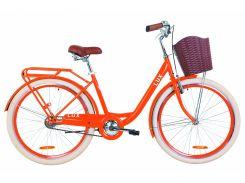 """Велосипед 26"""" Dorozhnik LUX 14G рама-17"""" St оранжевый с багажником зад St, с крылом St, с корзиной Pl 2019 (OPS-D-26-061)"""