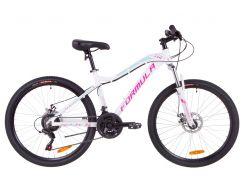 """Велосипед 26"""" Formula MYSTIQUE 1.0 AM 14G DD рама-13,5"""" Al бело-голубой с фиолетовым 2019 (OPS-FR-26-318)"""