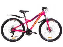 """Велосипед 26"""" Formula ELECTRA AM 14G DD рама-15,5"""" St малиновый с салатным с крылом Pl 2019 (OPS-FR-26-287)"""