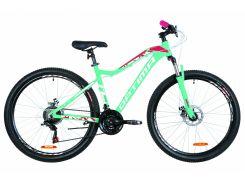 """Велосипед 27.5"""" Optimabikes ALPINA AM 14G DD рама-17"""" Al голубой с малиновым 2019 (OPS-OP-27.5-036)"""