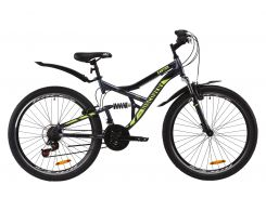 """Велосипед ST 26"""" Discovery CANYON AM2 Vbr рама-17,5"""" бело-черный с оранжевым с крылом Pl 2020 (OPS-DIS-26-233)"""