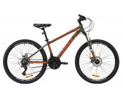 """Велосипед AL 26"""" Formula THOR 2.0 AM DD рама-14"""" голубой с оранжевым и белым 2020 (OPS-FR-26-350)"""