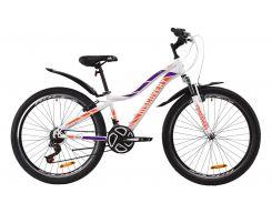 """Велосипед ST 26"""" Discovery KELLY AM Vbr рама-13,5"""" бело-фиолетовый с оранжевым с крылом Pl 2020 (OPS-DIS-26-247)"""