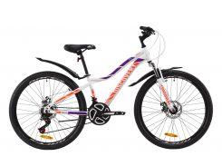 """Велосипед ST 26"""" Discovery KELLY AM DD рама-16"""" бело-фиолетовый с оранжевым с крылом Pl 2020 (OPS-DIS-26-259)"""