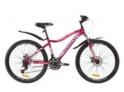 """Велосипед ST 26"""" Discovery KELLY AM DD рама-13,5"""" черно-малиновый с голубым с крылом Pl 2020 (OPS-DIS-26-252)"""