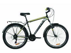 """Велосипед ST 26"""" Formula MAGNUM AM Vbr рама-19"""" черно-серый с желтым с багажником зад St, с крылом St 2020 (OPS-FR-26-416)"""